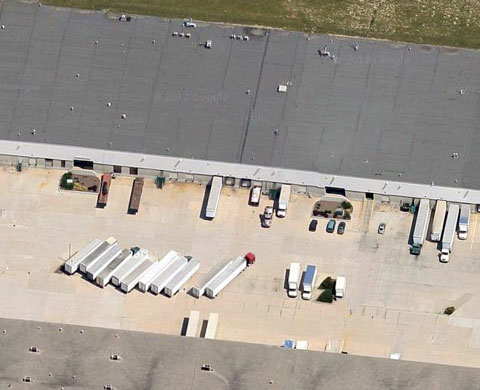 Aerial Image of Nu-Tech Polymers Warehouse.